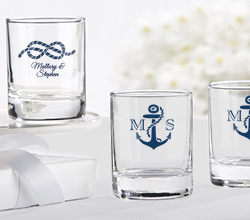 Personalized Shot Glass/Votive Holder - Kates Nautical Wedding Collection
